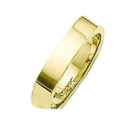 14kt Yellow Gold 4 Sided Wedding Band 4MM