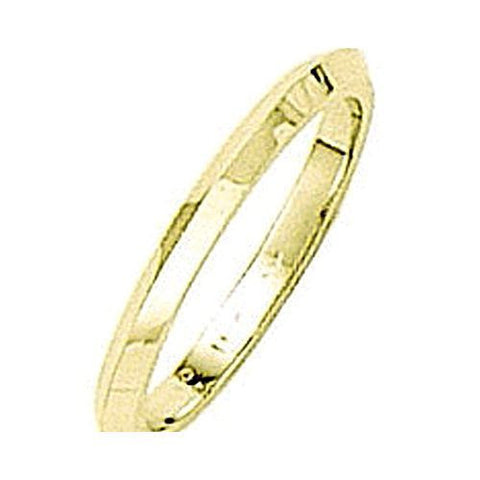 14kt Yellow Gold Knife Edge Wedding Band 2MM
