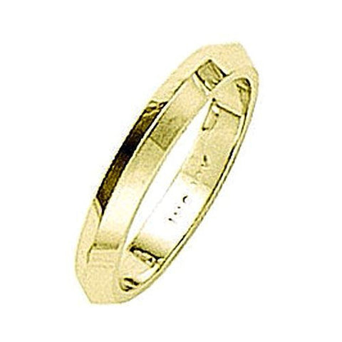 14kt Yellow Gold Knife Edge Wedding Band 3MM
