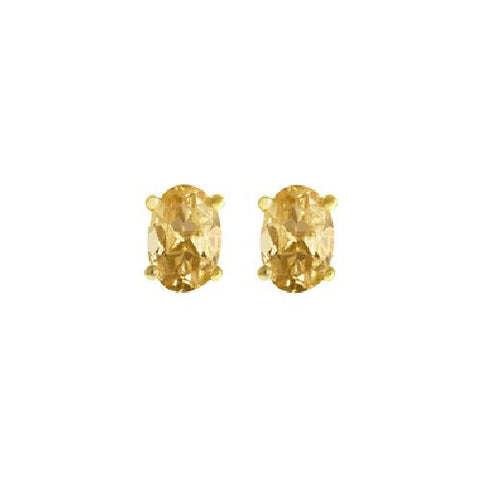 Citrine Sterling Silver/Vermeil Stud Earrings 0.72ct TW