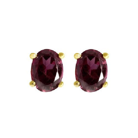 Rhodolite Sterling Silver/Vermeil Stud Earrings 2.75ct TW