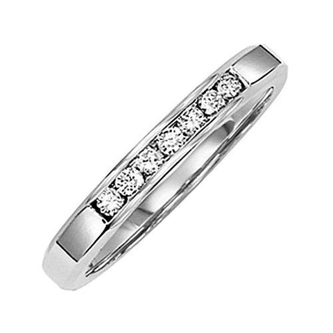 14kt Gold Channel Diamond Wedding Band 0.14ct TW