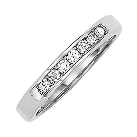 14kt Gold Channel Diamond Wedding Band 0.15ct TW