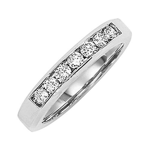 14kt Gold Channel Diamond Wedding Band 0.45ct TW