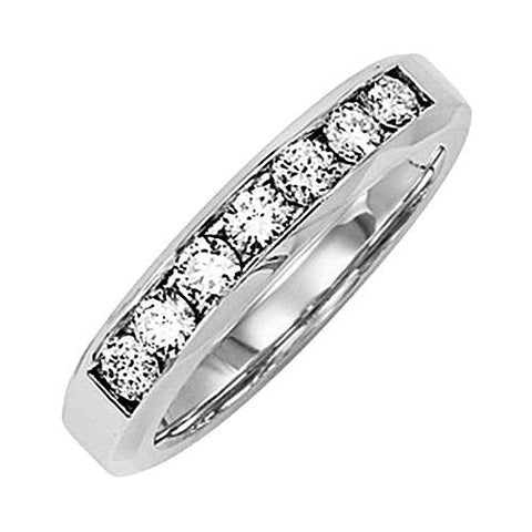14kt White Gold Channel Diamond Wedding Band 0.63ct TW