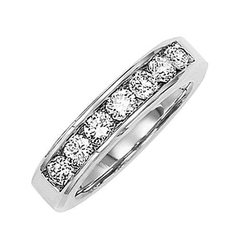 14kt White Gold Channel Diamond Wedding Band 0.84ct TW