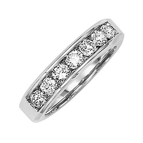 14kt White Gold Channel Diamond Wedding Band 0.75ct TW