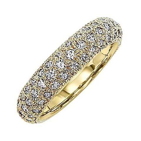 14kt Yellow Gold 5MM Wide Diamond Wedding Band 1.65ct TW