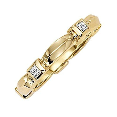 14kt Yellow Gold Diamond Stack Ring 0.25ct TW