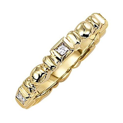 14kt Gold Diamond Stack Ring 0.25ct TW