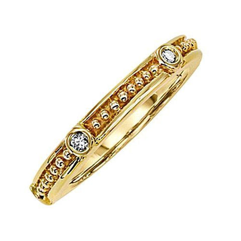 14kt Gold Diamond Stack Ring 0.13ct TW