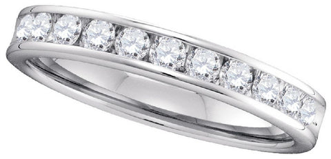 0.53Ctw Round Diamond Machine Set Band in 14kt White Gold