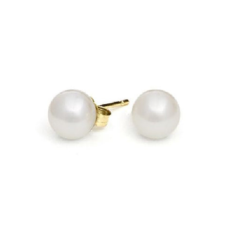 6-6,5mm White Freshwater Pearl Earrings AA