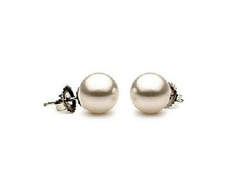 6.5-7mm White Akoya Pearl Earrings