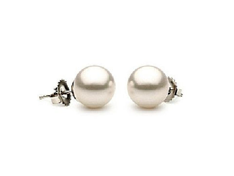 7-7.5mm White Akoya Pearl Earrings