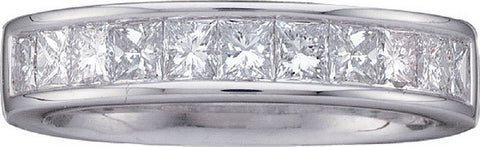 14kt White Gold Invisible Set Diamond Wedding Ring 1.00ct