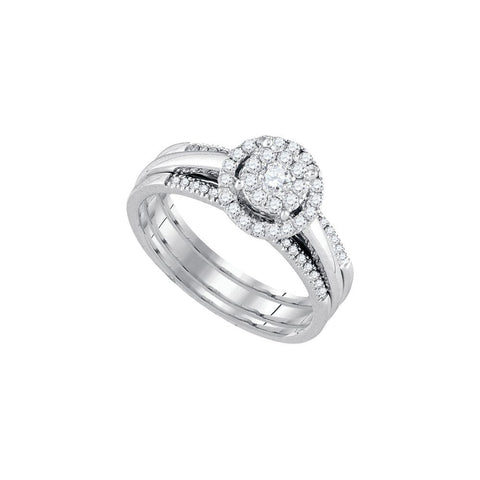 14kt White Gold Diamond Bridal Ring Set 0.50ct