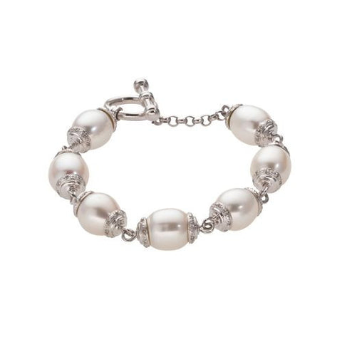14kt White Gold and 11mm White South Sea Pearl Bracelet