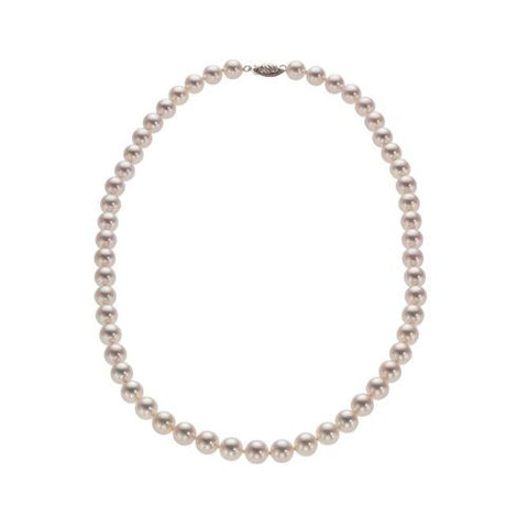 7.5-8mm White Akoya (saltwater) Pearl Necklace AA