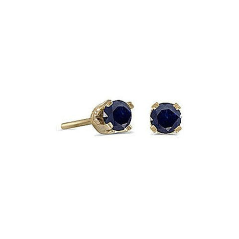 14kt Yellow Gold Blue Sapphire Stud Earrings 3mm