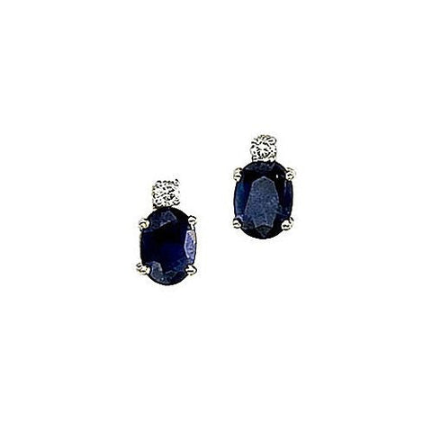 Diamond and Sapphire 14kt Yellow Gold Earrings 1.95ct TW