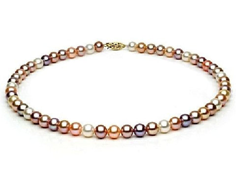 8-8.5mm Multi Colored Freshwater Pearl Necklace