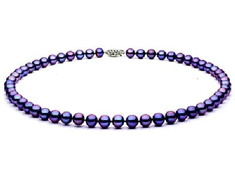 6.5-7mm Black Freshwater Pearl Necklace AA