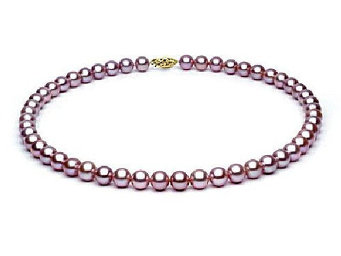 7, 5-8mm Lavender Freshwater Pearl Necklace