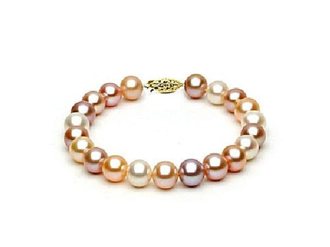 8.5-9mm Multi Colored Freshwater Pearl Bracelet AAA