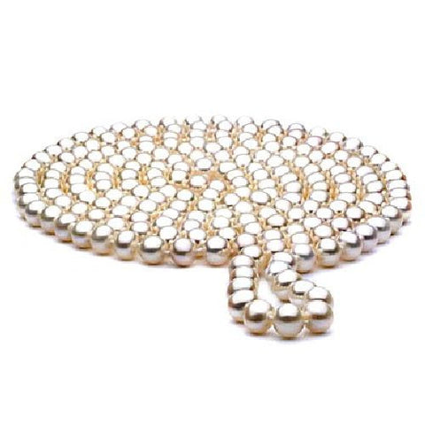 10-11mm White Baroque Freshwater Pearl Necklace 60 inch