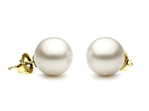 7-7.5mm White Freshwater Pearl Earrings