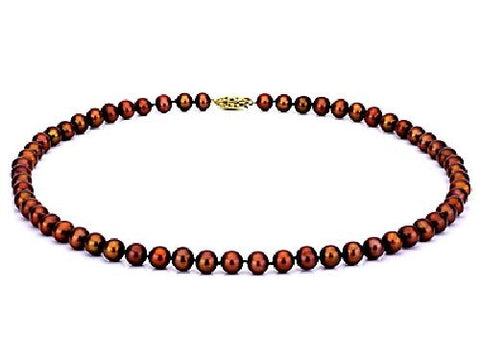 9-10mm Chocolate Freshwater Pearl Necklace