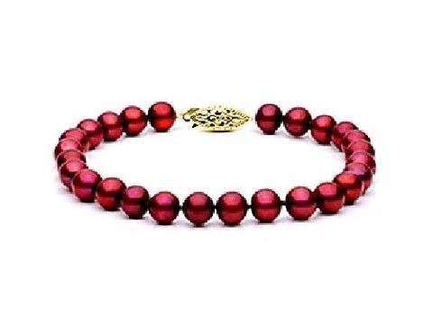 7.5-8mm Cranberry Freshwater Pearl Bracelet AAA