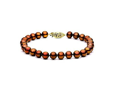 8.8.5mm Multi Chocolate Freshwater Pearl Bracelet AAA