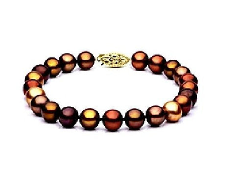 7.5-8mm Multi Chocolate Freshwater Pearl Bracelet