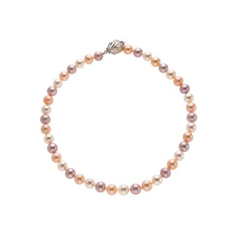 10-11mm Multi Colored Freshwater Pearl Necklace