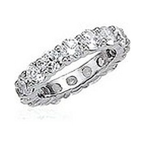 14kt Gold Shared Prong Round Diamond Wedding Band 5 1/2ct TW