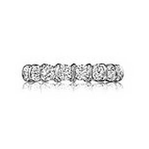 14kt White Gold Bar Channel Wedding Band 3/4ct TW