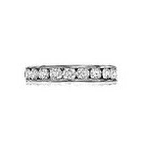 14kt Gold Channel Set Round Diamond Wedding Band 2ct TW