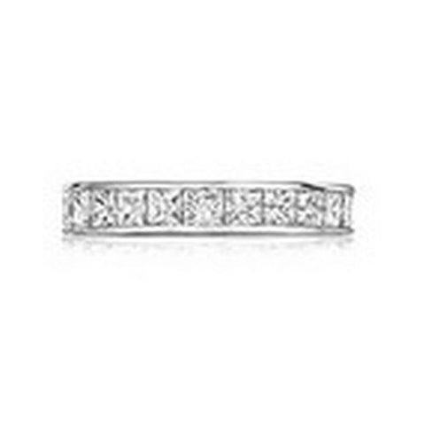 14kt White Gold Channel Princess Diamond Wedding Band 3 1/5ctTW