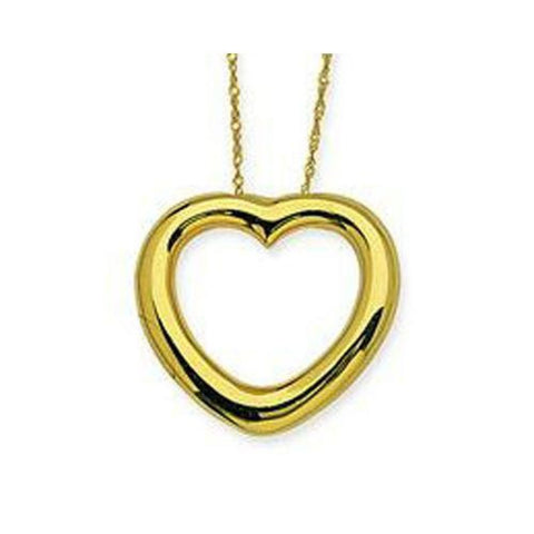 14kt Yellow Gold 3D Polished Heart Pendant