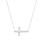 14kt Rose Gold East2West Cross Necklace adjustable