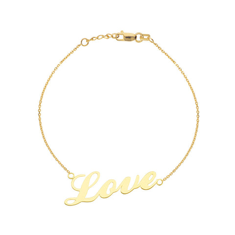 14kt Yellow Gold Love Bracelet adjustable