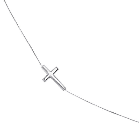 Sterling Silver East2West Cross Bracelet adjustable