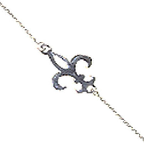 Sterling Silver East2West Fleur De Lis Bracelet