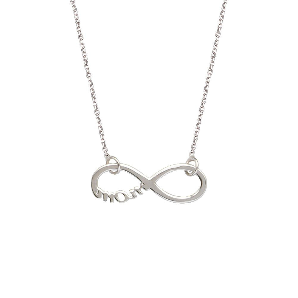 Sterling Silver East 2 West Infinity Adjustable Necklace