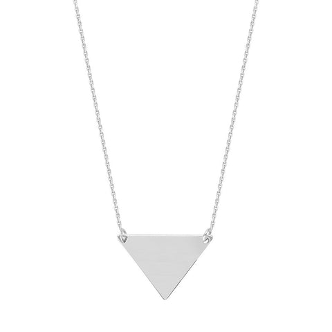 Sterling Silver  Adjustable Triangle Necklace