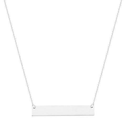 Sterling Silver East2West Mini Nameplate Adjustable Necklace