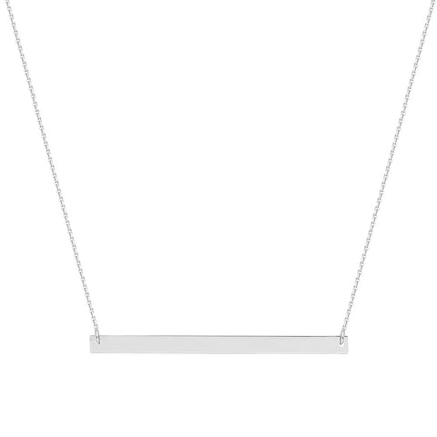 Sterling Silver East2West Thin Nameplate Necklace