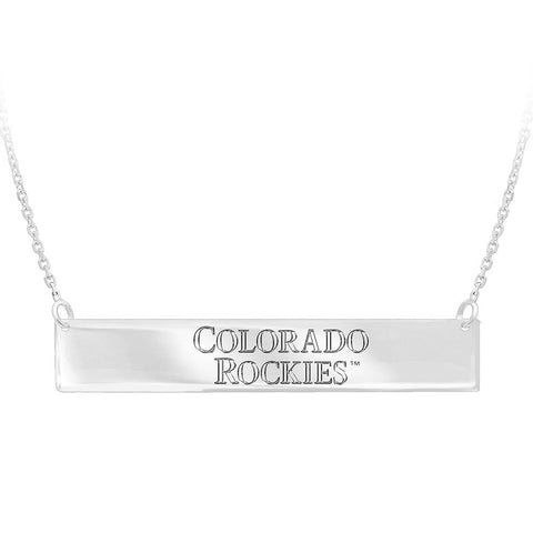 MLB Colorado Rockies Bar Adjustable Necklace